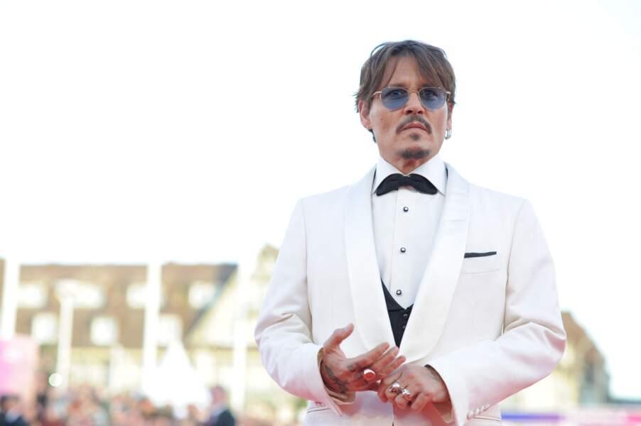Johnny Depp à Deauville, le 8 septembre 2019.