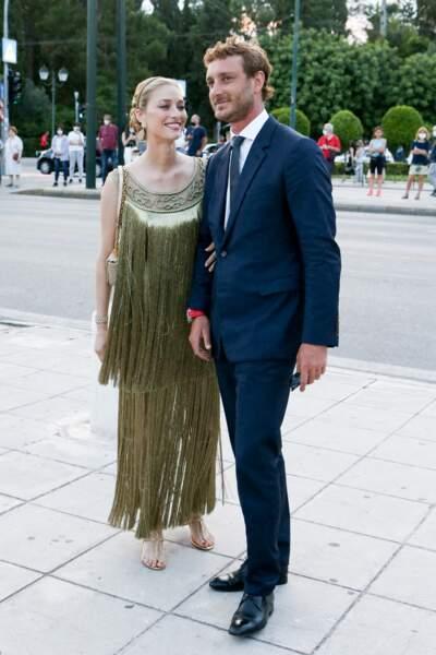 Beatrice Borromeo, égérie Dior et  Pierre Casiraghi élégantissimes au défilé Dior Cruise 2022 à Athènes, le 17 juin 2021.