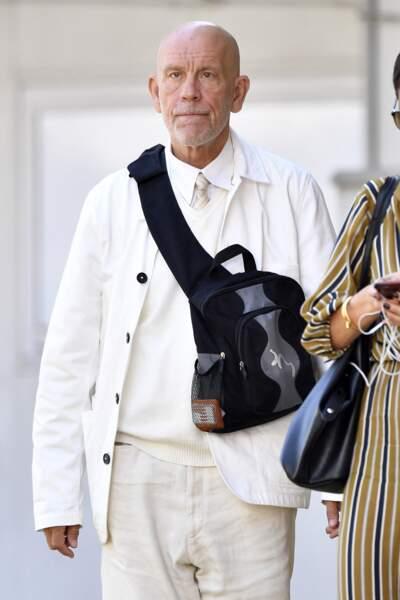 John Malkovich se balade à Venise, le 2 septembre 2019.