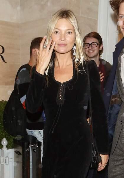 Kate Moss à Londres le 1er octobre 2019.