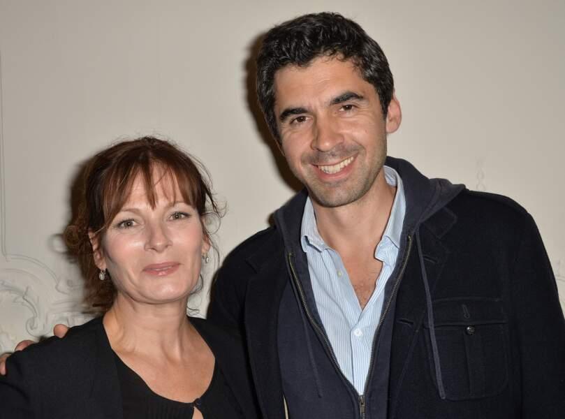 Cécilia Hornus et Ludovic Baude  chez Artemis à Paris, le 3 juin 2015.