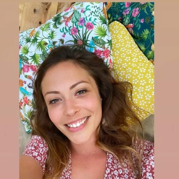 Selfie pour Dounia Coesens, en juin 2021.
