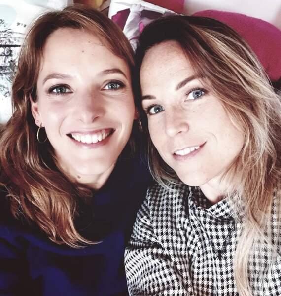 Aurélie Vaneck et une autre actrice de Plus Belle La Vie, Elodie Varlet.