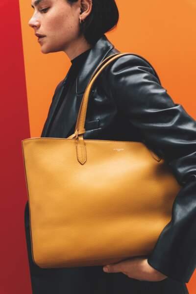 Grand sac Louise en cuir grainé,  519€, Le Tanneur