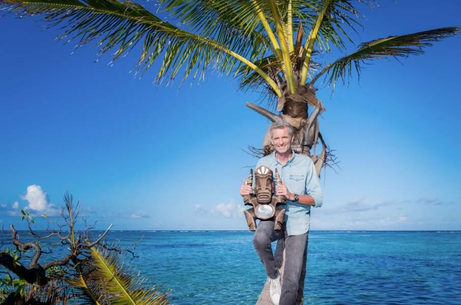 """Denis Brogniart est à la présentation de """"Koh-Lanta : La légende"""" à partir du mardi 24 août sur TF1."""