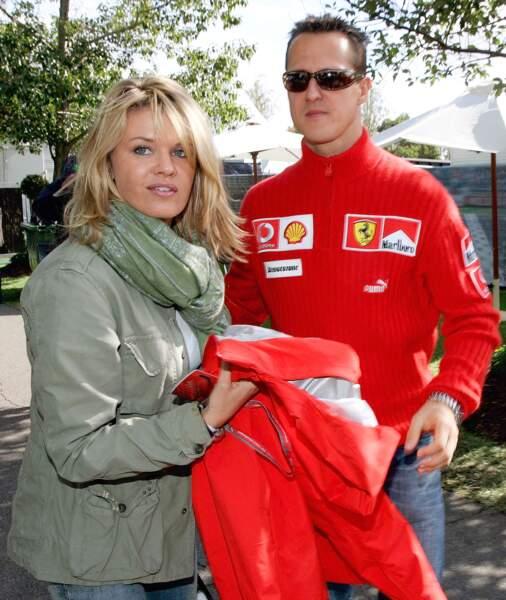 Corinna et Michael Schumacher en avril 2006
