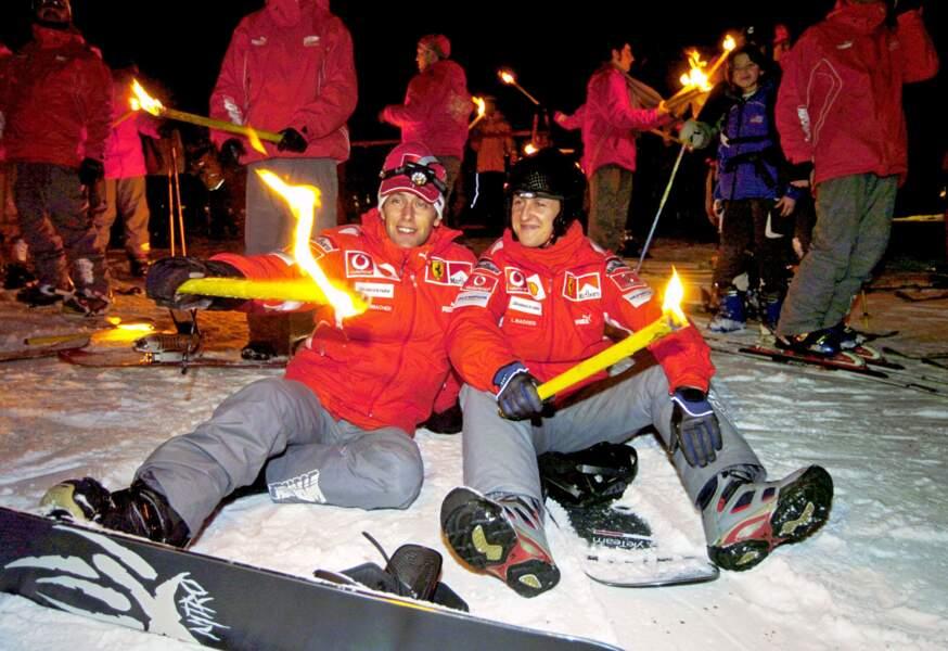Michael Schumacher et Luca Badoer en 2005.