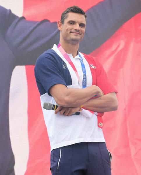 Le nageur était à Paris, ce samedi 7 août.