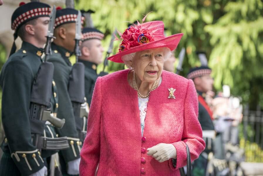 Arrivée royale de Sa Majesté le 9 août 2021, à Balmoral, en Écosse