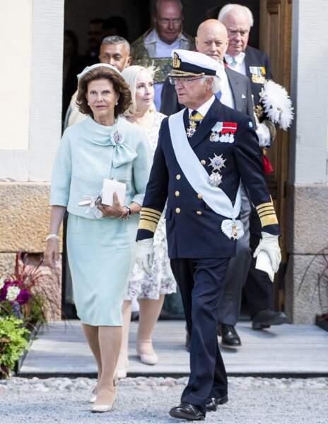Le roi Carl XVI Gustaf et la reine Silvia étaient évidemment présents.