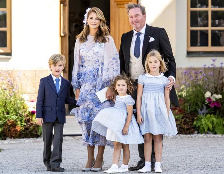 La princesse Madeleine et sa famille avaient fait le déplacement depuis la Floride, où ils habitent, pour l'occasion.