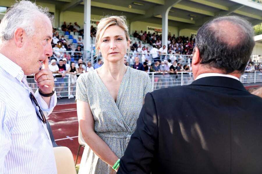 Julie Gayet, la compagne de François Hollande, lors du match de rugby organisé à Tulle, ce vendredi 13 août.