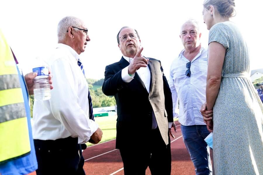 Le couple s'est déplacé en Corrèze pour un match de rugby opposant Brive au Stade Français.