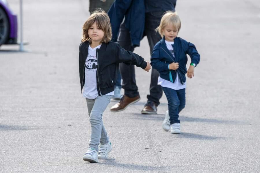 Tout le monde n'avait d'yeux que pour les fils de Sofia Hellqvist.
