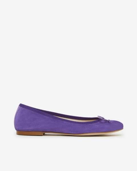 Ballerines Liva/Vel violet, San Marina, 69 €.