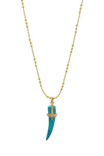 Collier en turquoise Louise Griffe, Leticia Ponti, 129€.