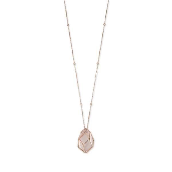 Collier en quartz rose, Jacquie Aiche, prix sur demande.
