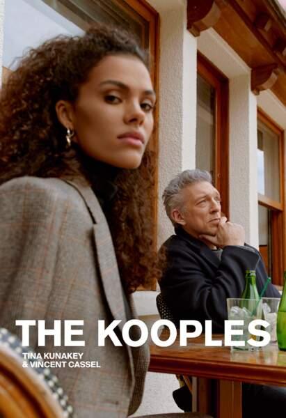 Vincent Cassel et Tina Kunakey dans la nouvelle campagne The Kooples automne-hiver 2021/2022