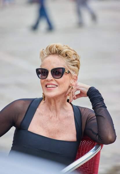 Sharon Stone et sa fameuse coupe courte qui a fait sa renommée