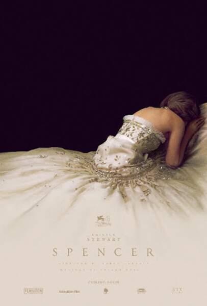 L' affiche événement du film Spencer qui retrace un moment de vie de la princesse Diana incarnée par Kristen Stewart.