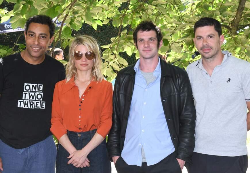 Mélanie Thierry, Félix Moati, Lyes Salem et Fabien Gorgeart réunis.
