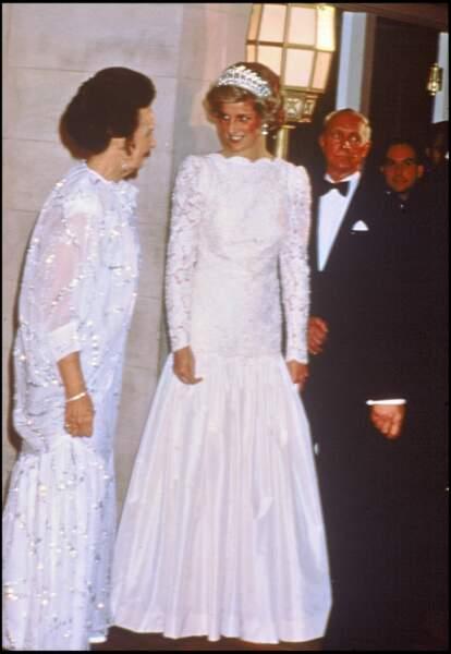 La princesse Diana et la robe qui a certainement inspiré l'un des looks de kristen Stewart dans Spencer