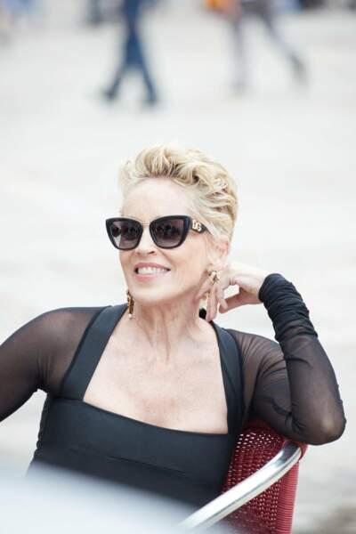Sharon Stone, 63 ans et sa célèbre coupe courte  : le glamour à l'état pur
