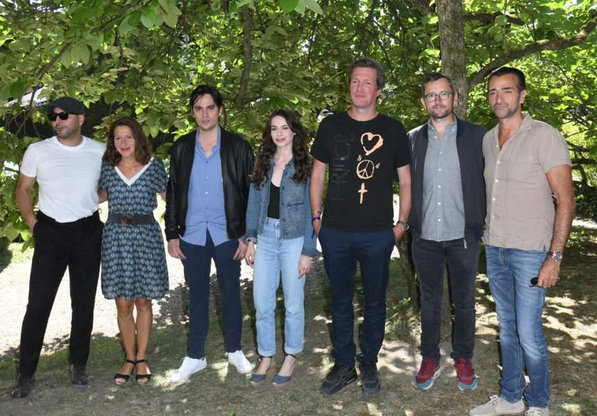 """L'équipe du film """"Jours sauvages"""" réunie lors du Festival d'Angoulême"""