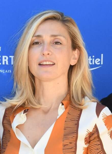 """Julie Gayet a animé une """"conversation musicale"""", lors du 14e Festival du film francophone d'Angoulême, le samedi 28 août 2021"""