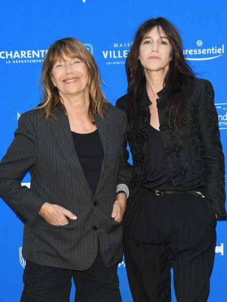 Jane Birkin et sa fille Charlotte Gainsbourg unies pour ce Festival du Film Francophone d'Angoulême