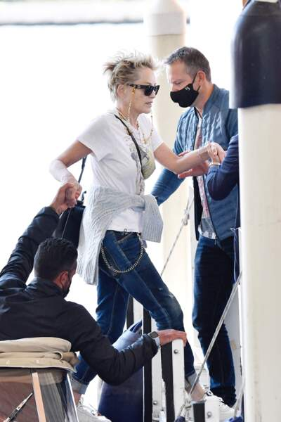 Sharon Stone est venue à Venise pour la nouvelle campagne de publicité Dolce & Gabban