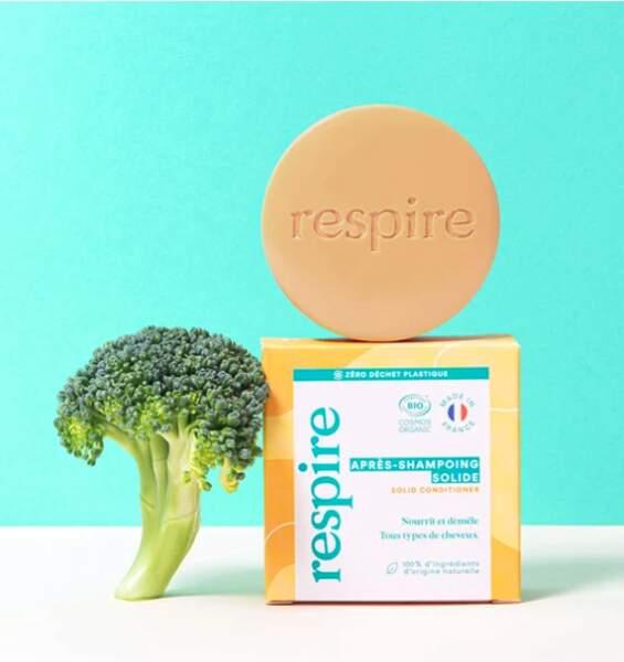 Après-Shampoing Solide Certifié Bio, 50g, Respire, 12,90€, respire.co