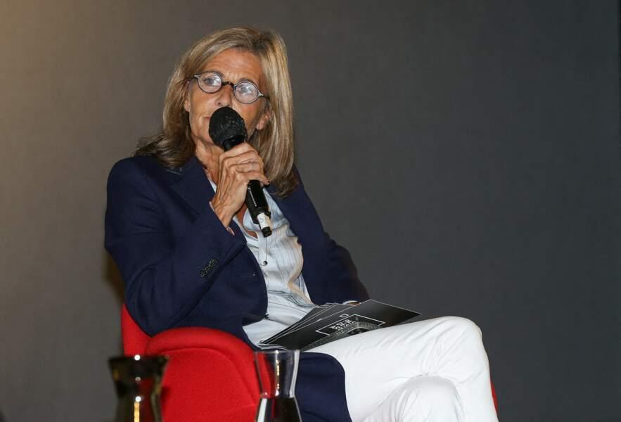 Claire Chazal fait sa rentrée au Festival Series Mania à Lilles, le 30 août 2021
