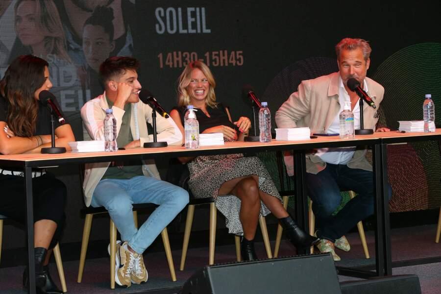"""Le casting de la série """"Un si grand soleil"""" en conférence au Festival Series Mania à Lille, le 30 août 2021"""