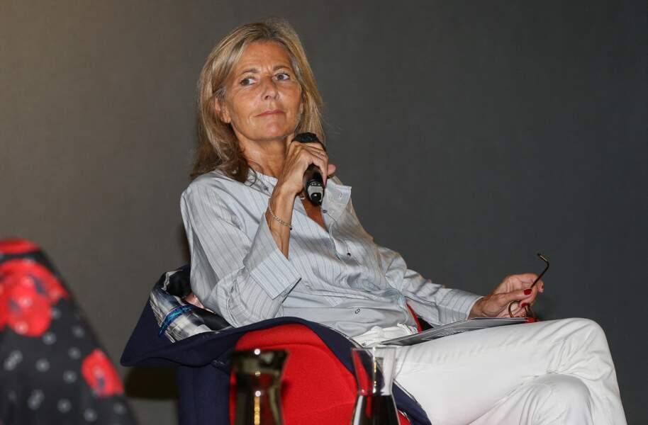 Claire Chazal bronzée et rayonnante, elle fait sa rentrée en beauté à Lille, le 30 août 2021