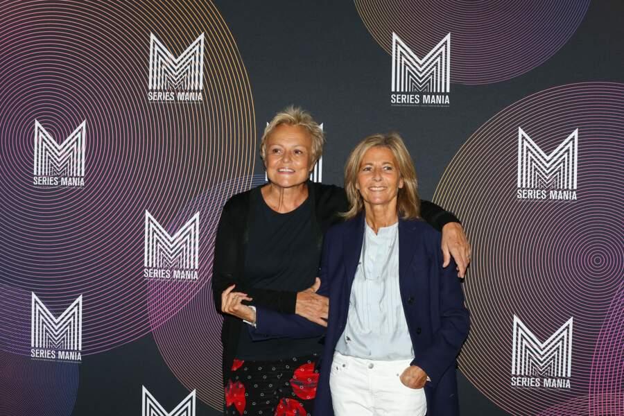 Claire Chazal et Muriel Robin invitées d'honneur au Festival Series Mania, le 30 août 2021