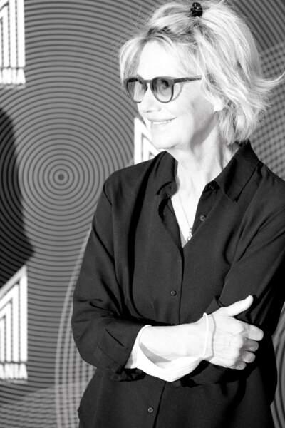 """L'actrice de 71 ans Miou-Miou ravissante à l'avant première du film """"Nona et ses filles"""" lors du Festival Series Mania à Lille le 30 aout 2021."""