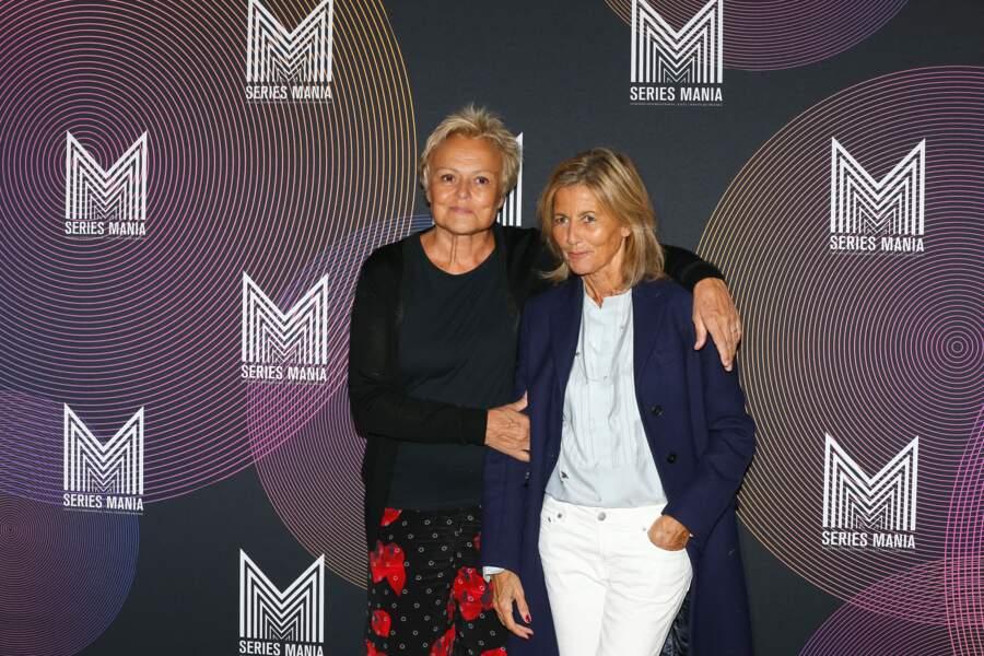 Claire Chazal et Muriel Robin invitées d'honneur au Festival Series Mania, le 30 août 2021 à Lille