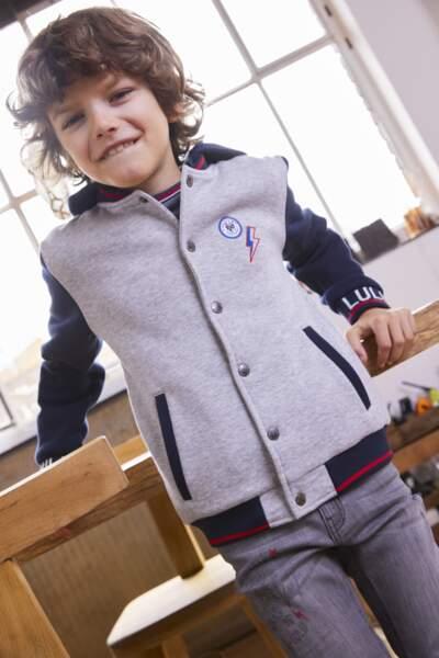 Veste à capuche, en coton et polyester, 24,99€