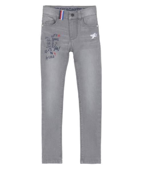 Jean gris clair en coton et polyeste, 19,99€
