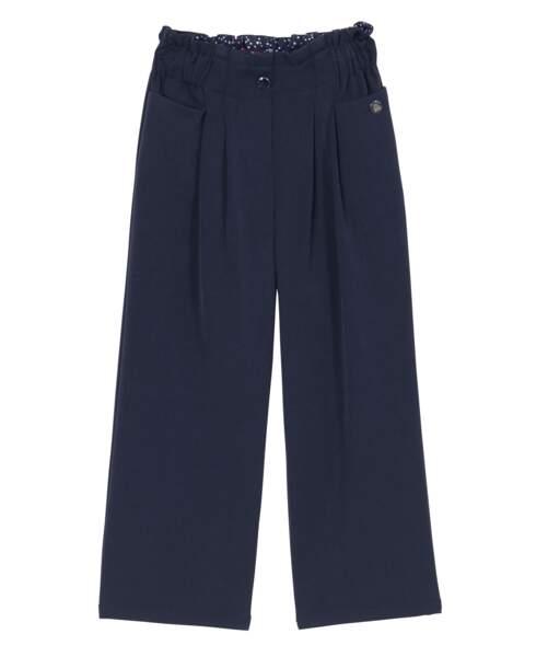 Pantalon flare en polyester et viscose, 17,99€