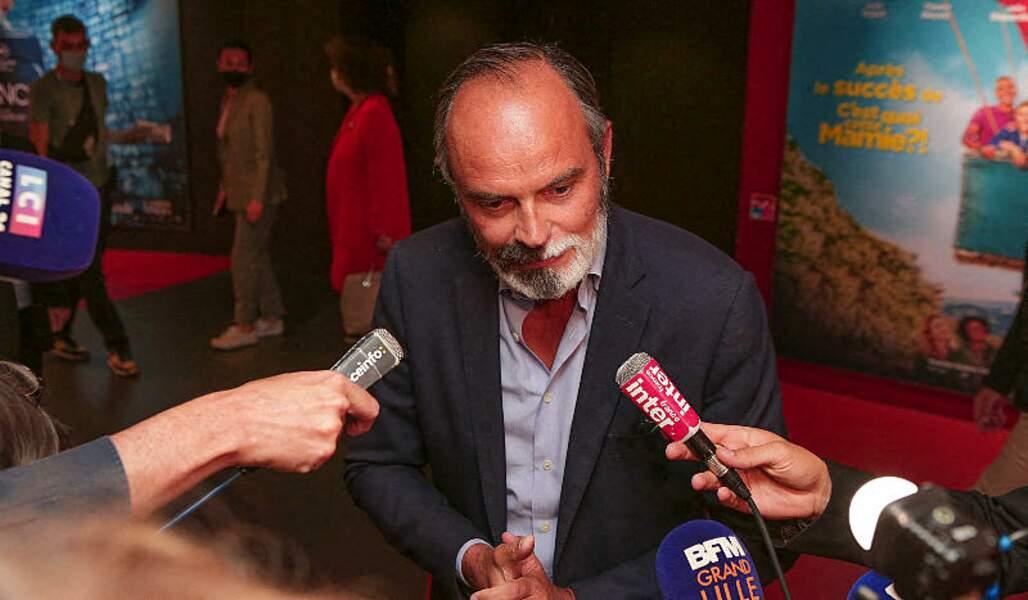 Edouard Philippe interviewé par les journalistes n'a pas communiqué de date sur l'adaptation en série de son roman au Festival Series Mania à Lille.