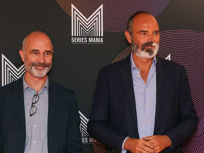 Edouard Philippe et et Gilles Boyer sont venus présenter une conférence politique lors du Festival Series Mania à Lille, France, le 30 août 2021.