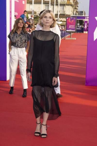 Clémence Poésy sur le tapis rouge du festival du cinéma américain de Deauville, le 3 septembre