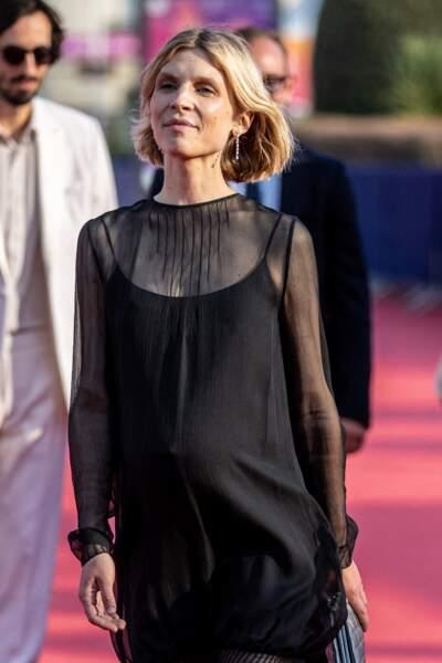 Clémence Poésy radieuse sur le tapis rouge du  festival du Cinéma Américain de Deauville