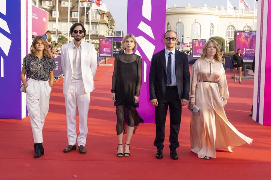 Céleste Brunnquell, Antoine Lomepal, Clémence Poésy... lors de la cérémonie d'ouverture de la 47ème édition du festival du Cinéma Américain de Deauville