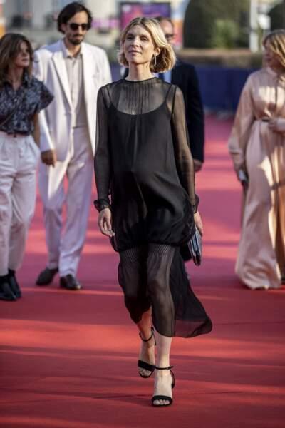 Clémence Poésy présente à la projection de Stillwater lors du festival du Cinéma Américain de Deauville, le 3 septembre