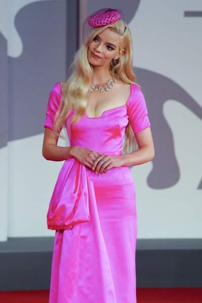 """L'actrice Anya Taylor-Joy présente à Venise pour la première du film  """"Last Night in Soho"""""""