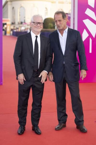 Thierry Frémaux et Vincent Lindon sur le tapis rouge du Festival Américain de Deauville.