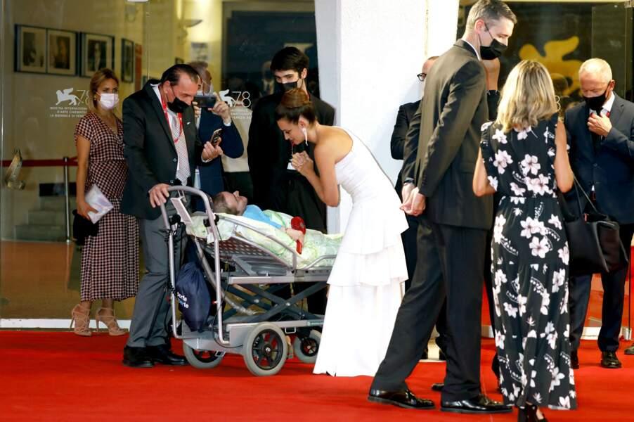 Penelope Cruz présente à Venise pour le festival international du film, le 4 septembre